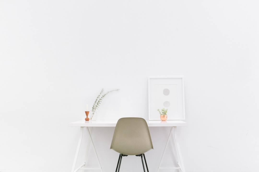 One of the ways how agile methodology impacts planning and budgets is by giving you a minimal product up front. Pictured here is a very minimal product: A desk with the bare minimum needed to get the work done.